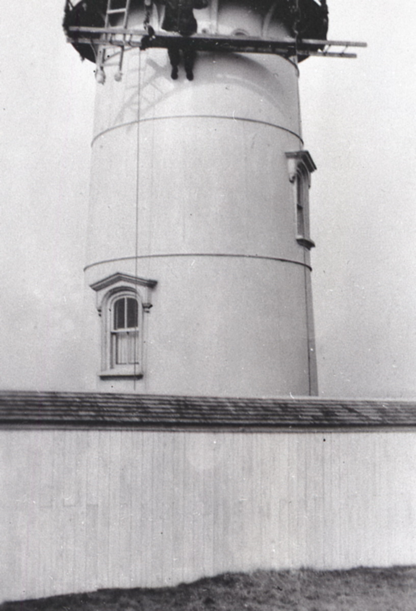 Painting the Tower at Great Duck Island Light