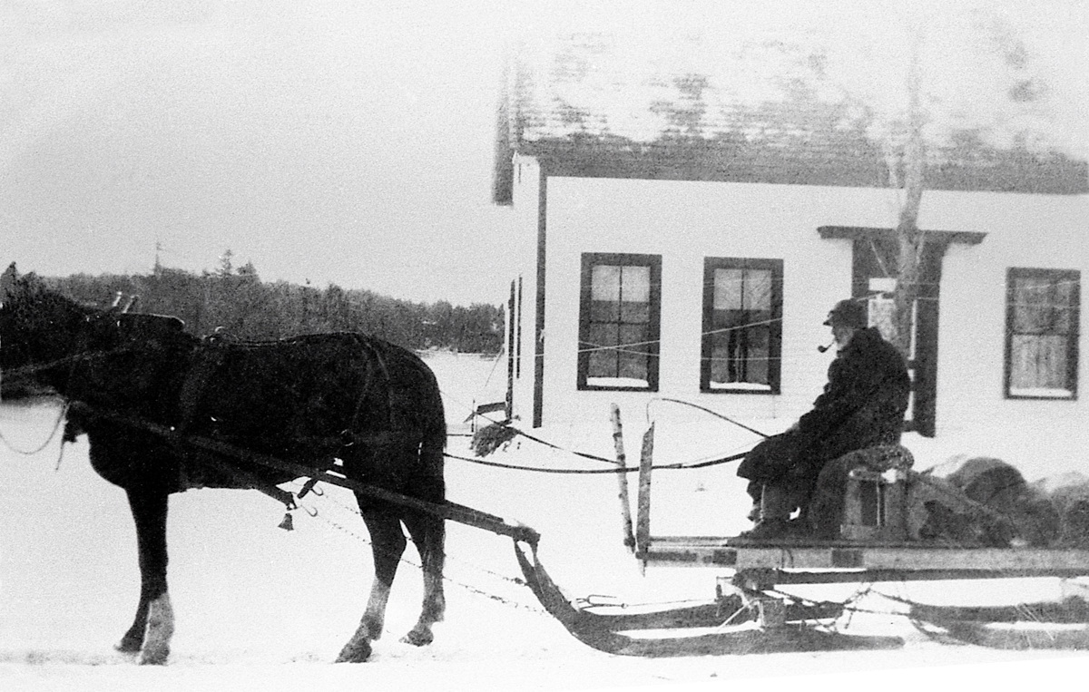 Collin A. Campbell Driving a Pung at Leonard Stanley's House
