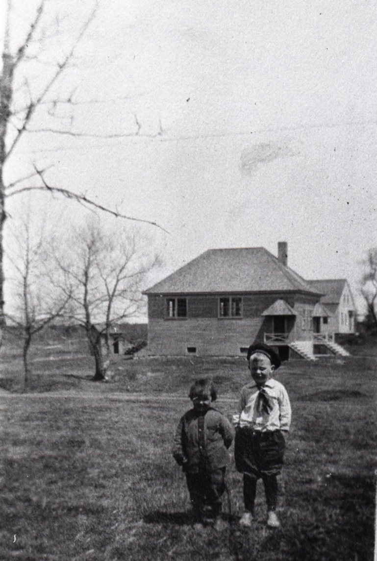 Madeline A. Latty and Drexel M. Latty at the Old Marsh School