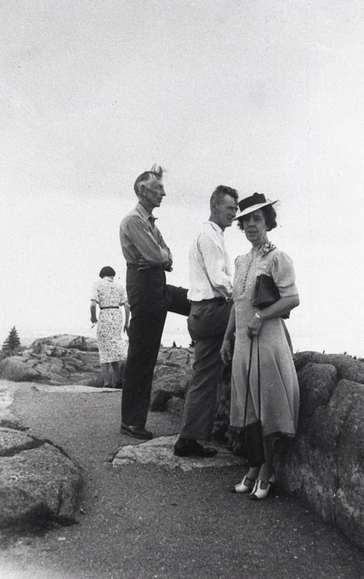 Fred Sidney Mayo, Lauchlan McKay Swansburg, and Edith Swansburg on Cadillac Mountain