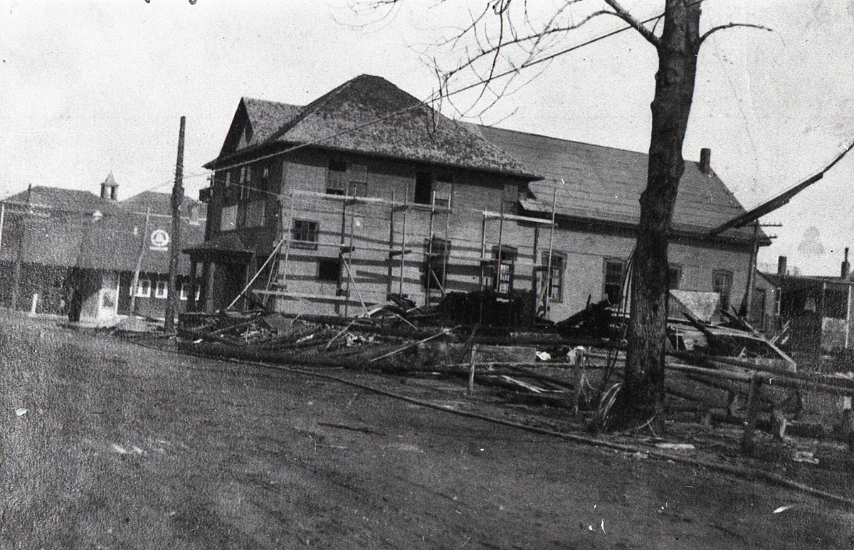 The Remains of the First Masonic Hall - After the 1922 Fire