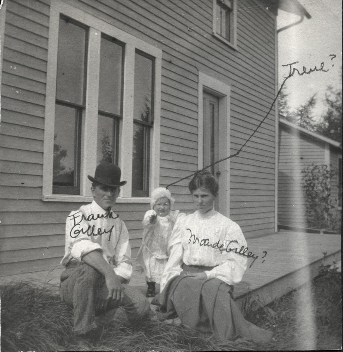 Frank L. Gilley and Maud F. (Holmes) Gilley with Wendell Holmes Gilley