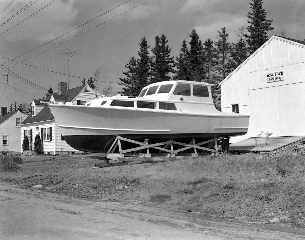 New Cruiser at Ronald Rich's Boat Shop, Southwest Harbor, Maine