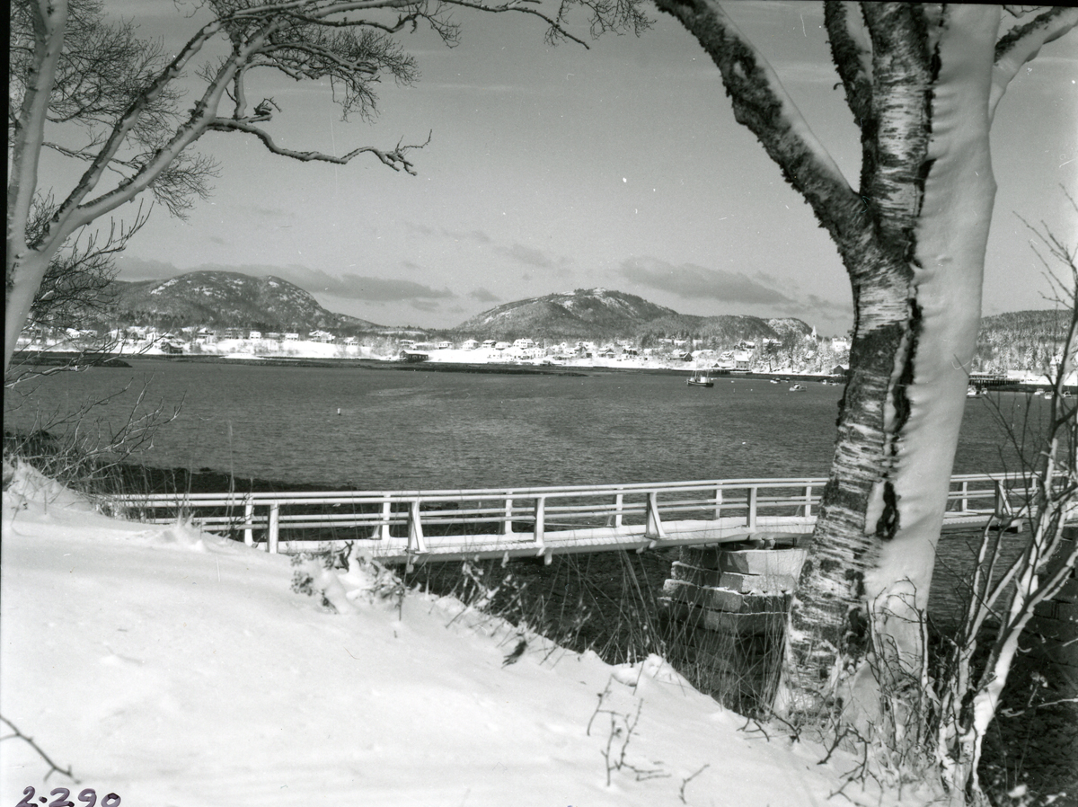 Winter View of Southwest Harbor from Manset