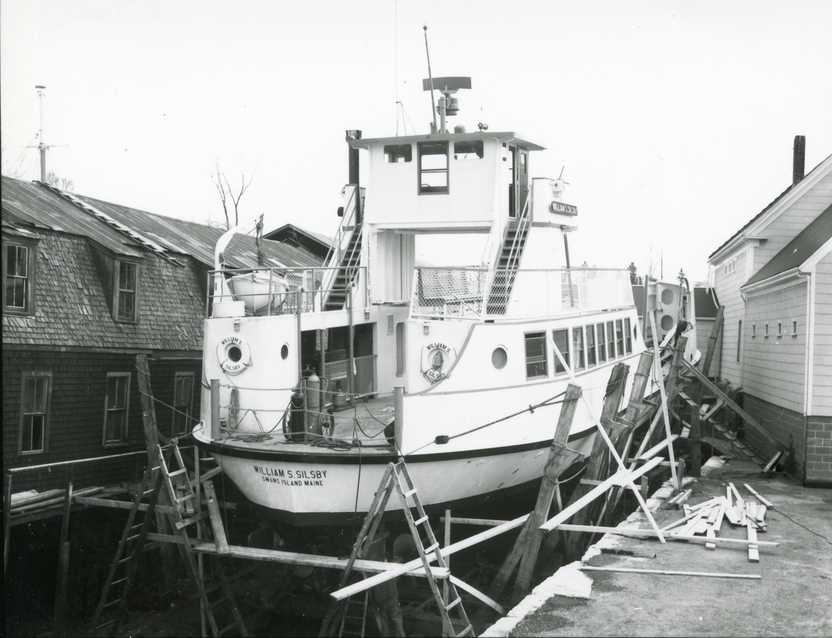 Swans Island Ferry William S. Silsby During Spring Overhaul at Southwest Boat Corporation