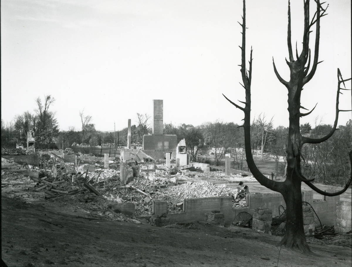 The Bar Harbor Fire - Ruins of the Malvern Hotel