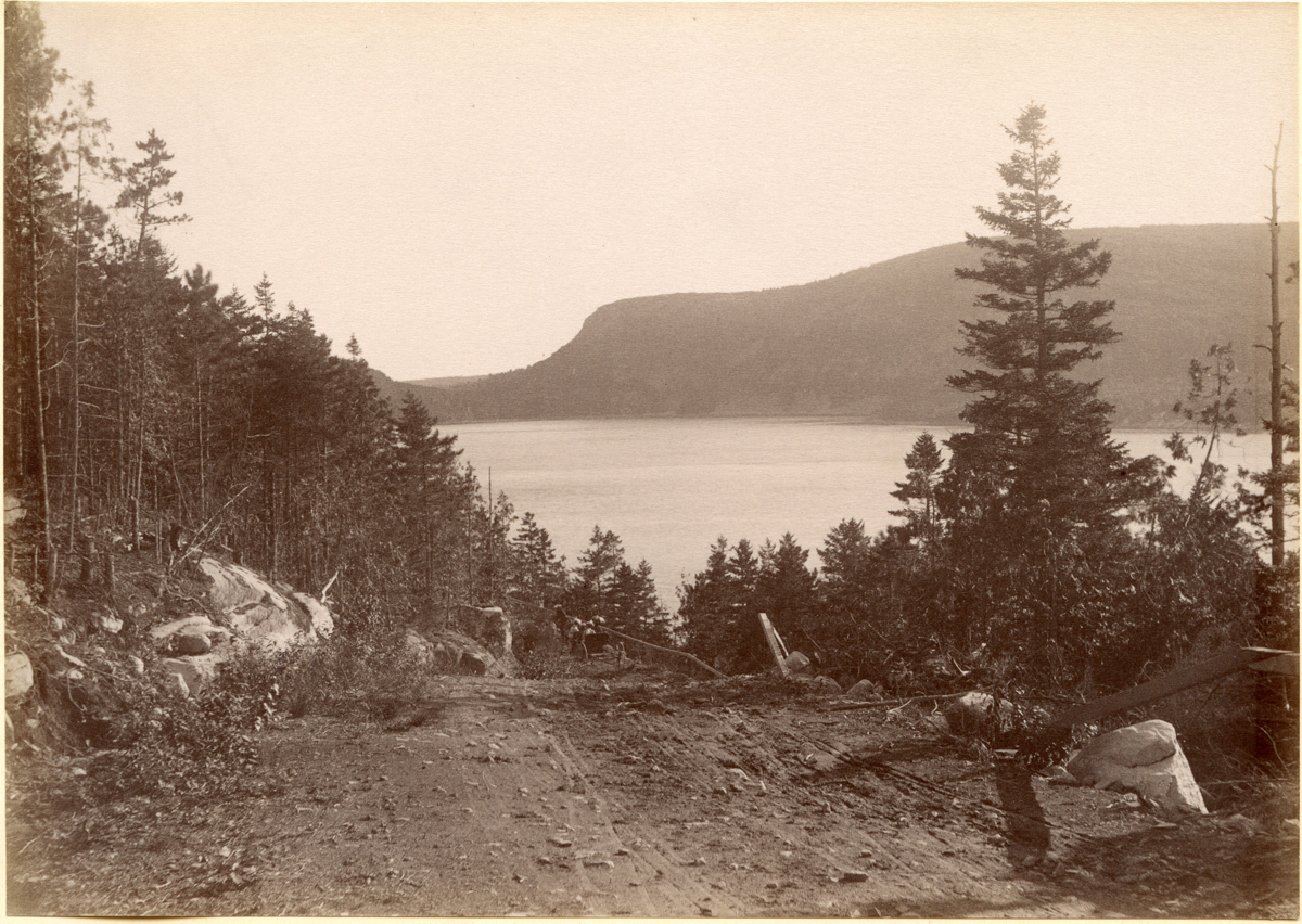 Robinson Mountain from Brown Mountain Road Across Somes Sound