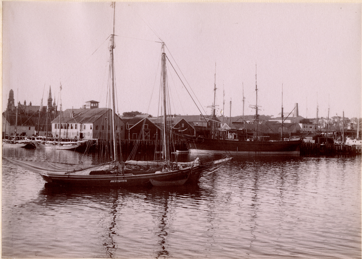 Barque at Dock in Gloucester Harbor