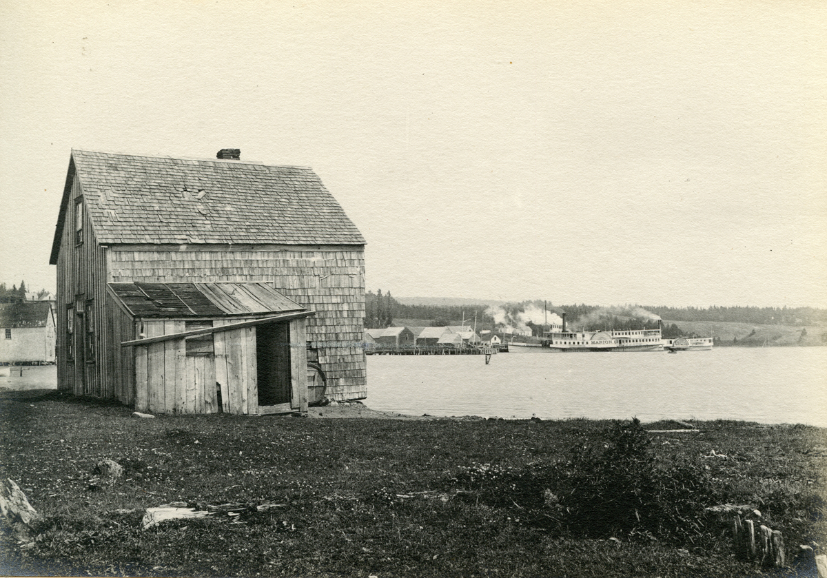 Wharves from the Point and Side Wheel Steamer