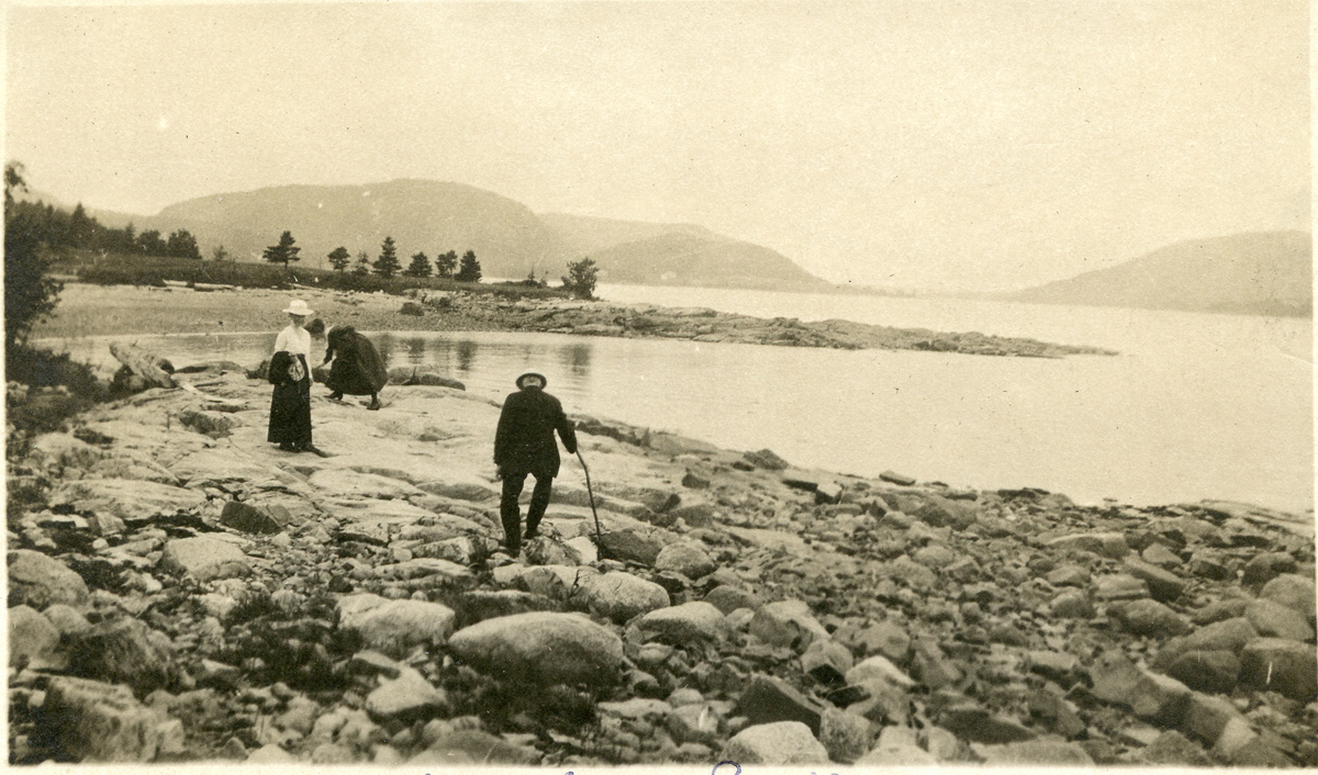 James Buckman and Ann Clarbour (Tagg) Buckman on the Back Shore at Southwest Harbor