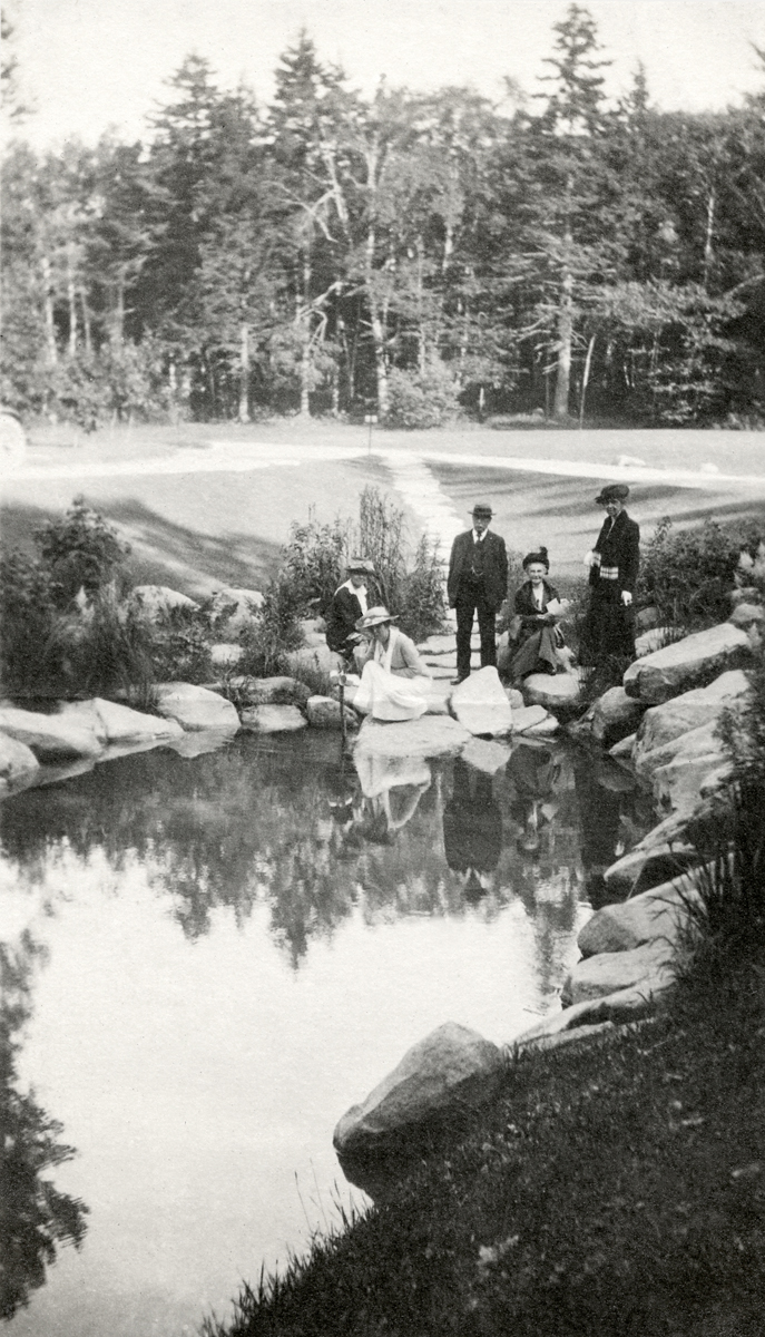 James Buckman with Family and Friends at Sieur de Monts Spring, Lafayette National Park