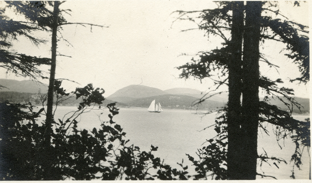Schooner Yacht at the Mouth of Somes Sound