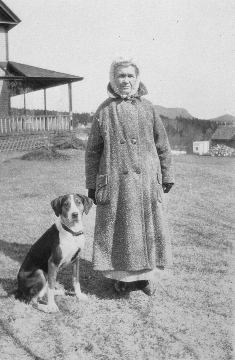 """Lucy Ella Lawler Whitmore and Family Dog, """"Pat"""""""