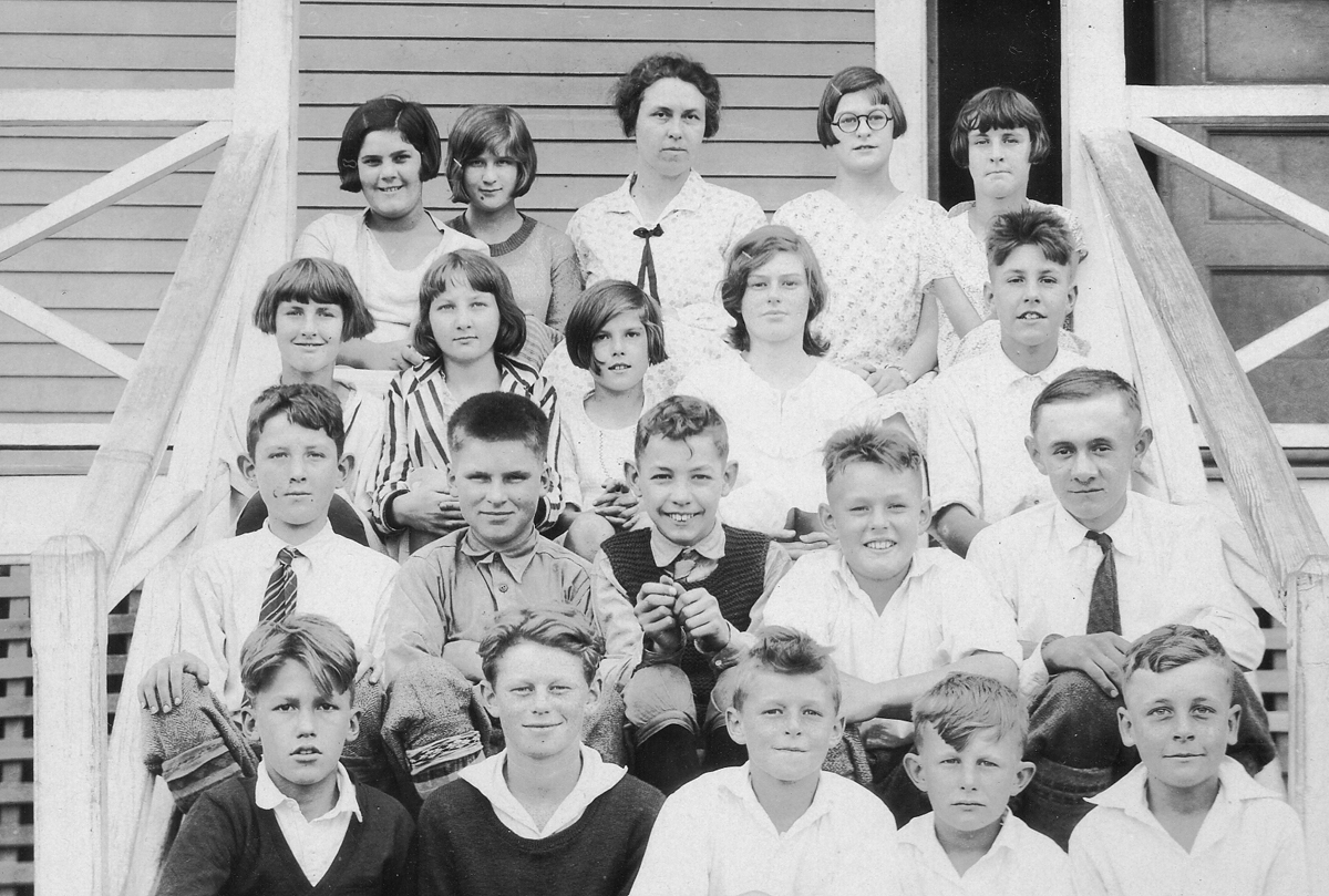 Gladys Ella Whitmore and Students at the Manset School