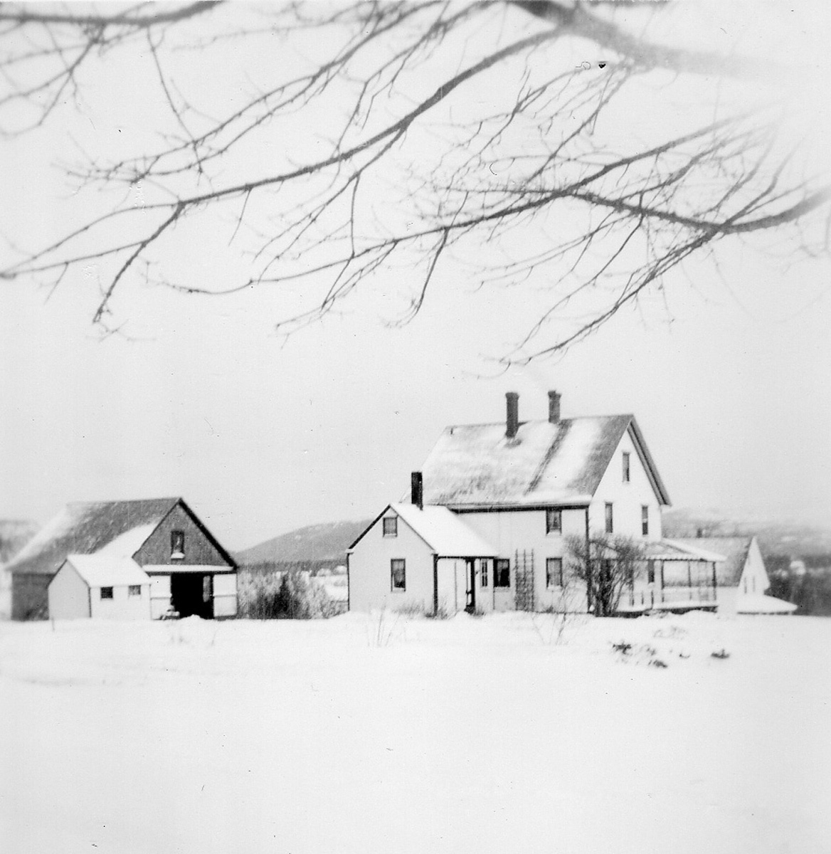 William Holden Whitmore House in Snow