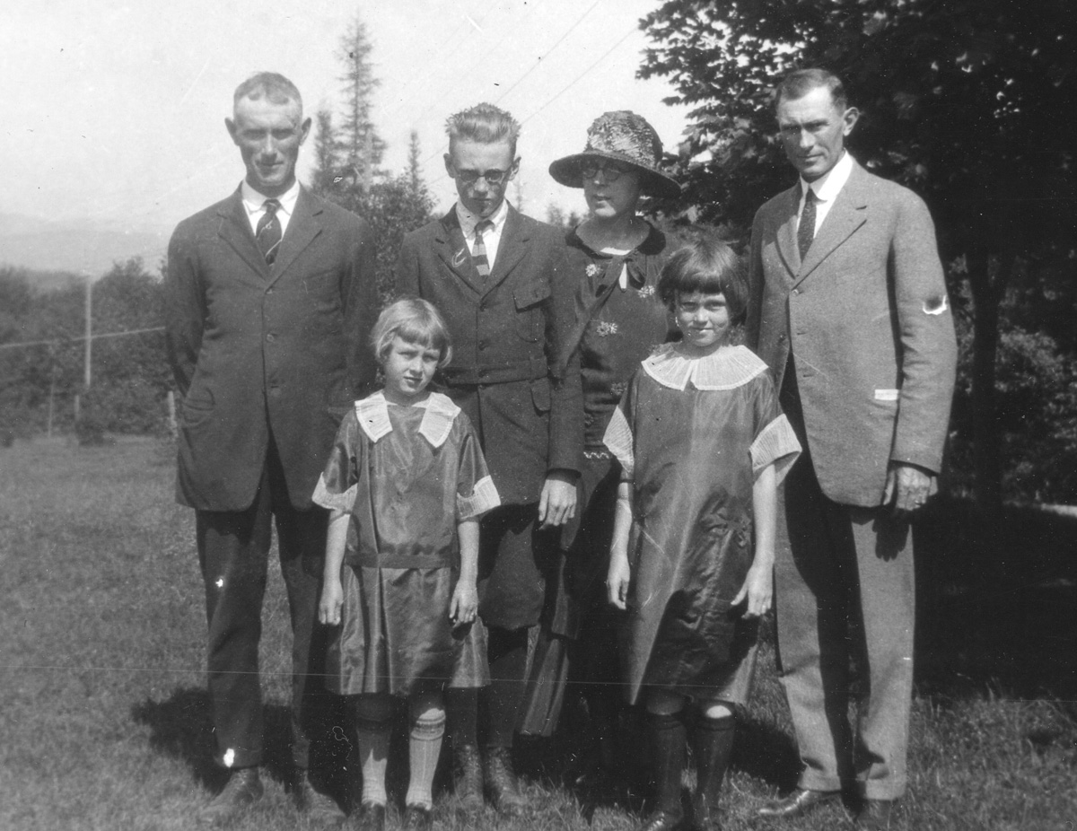 John Lawler Whitmore and Brother, James F. Whitmore, and John's Family in Southwest Harbor - 1924