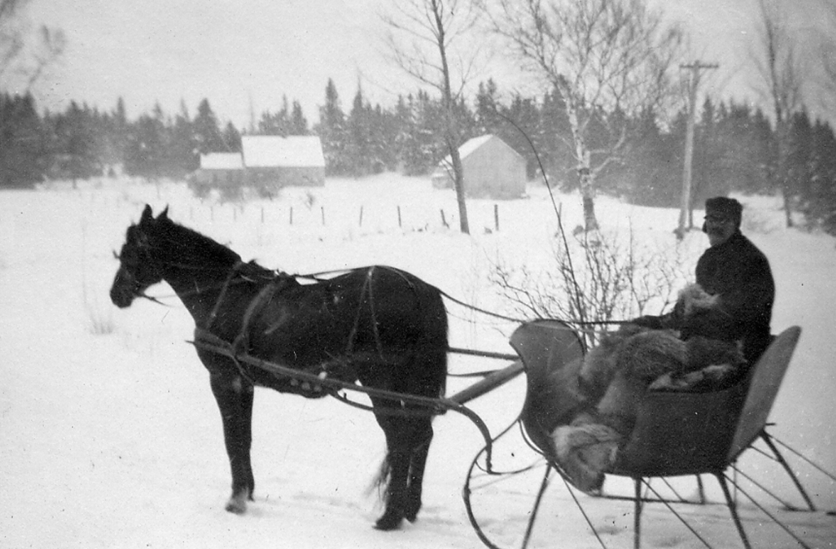 William Holden Whitmore (1847-1914) - In Sleigh Pulled by Bess