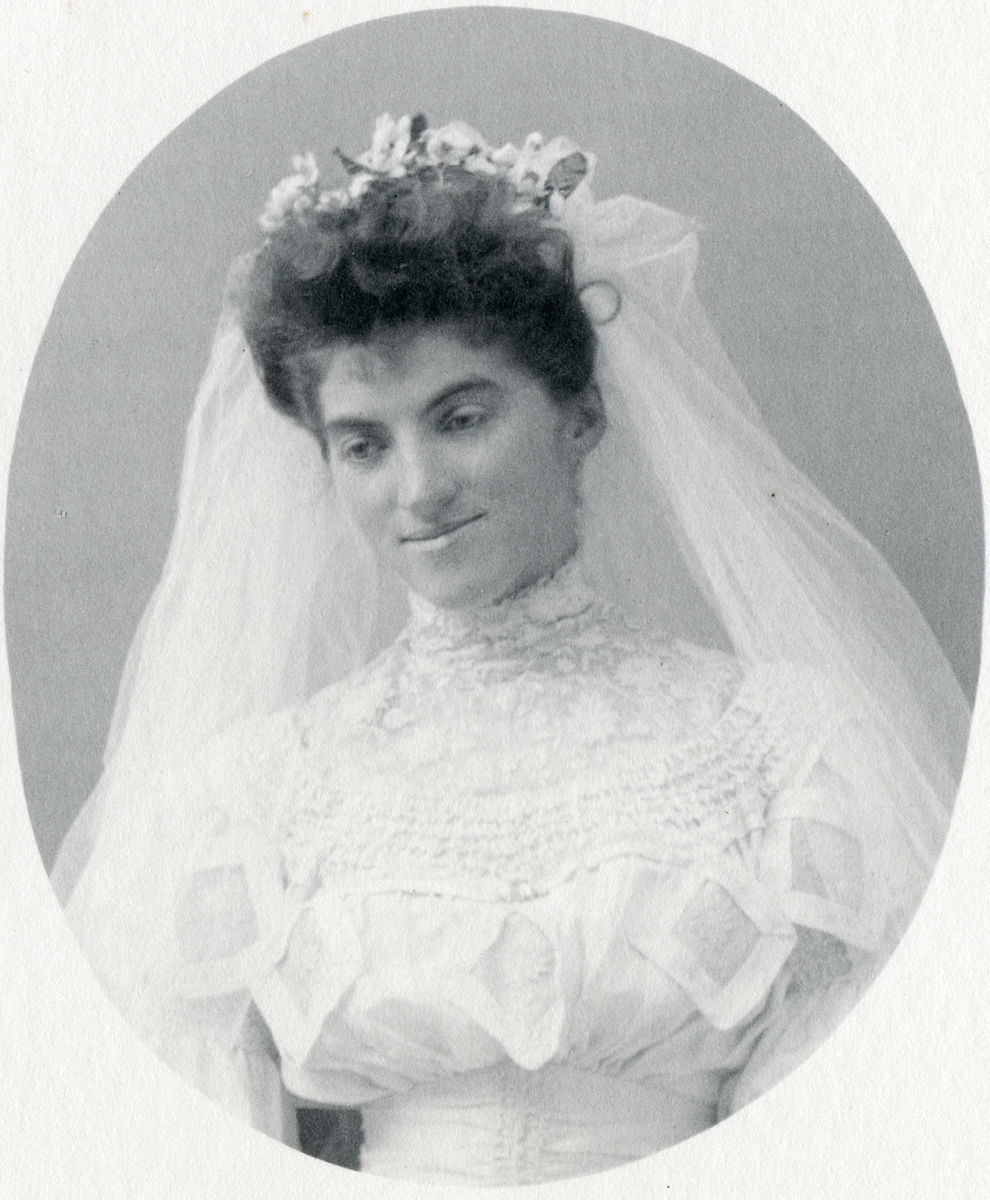 Marion Quincy Winslow Rand in Bridal Dress