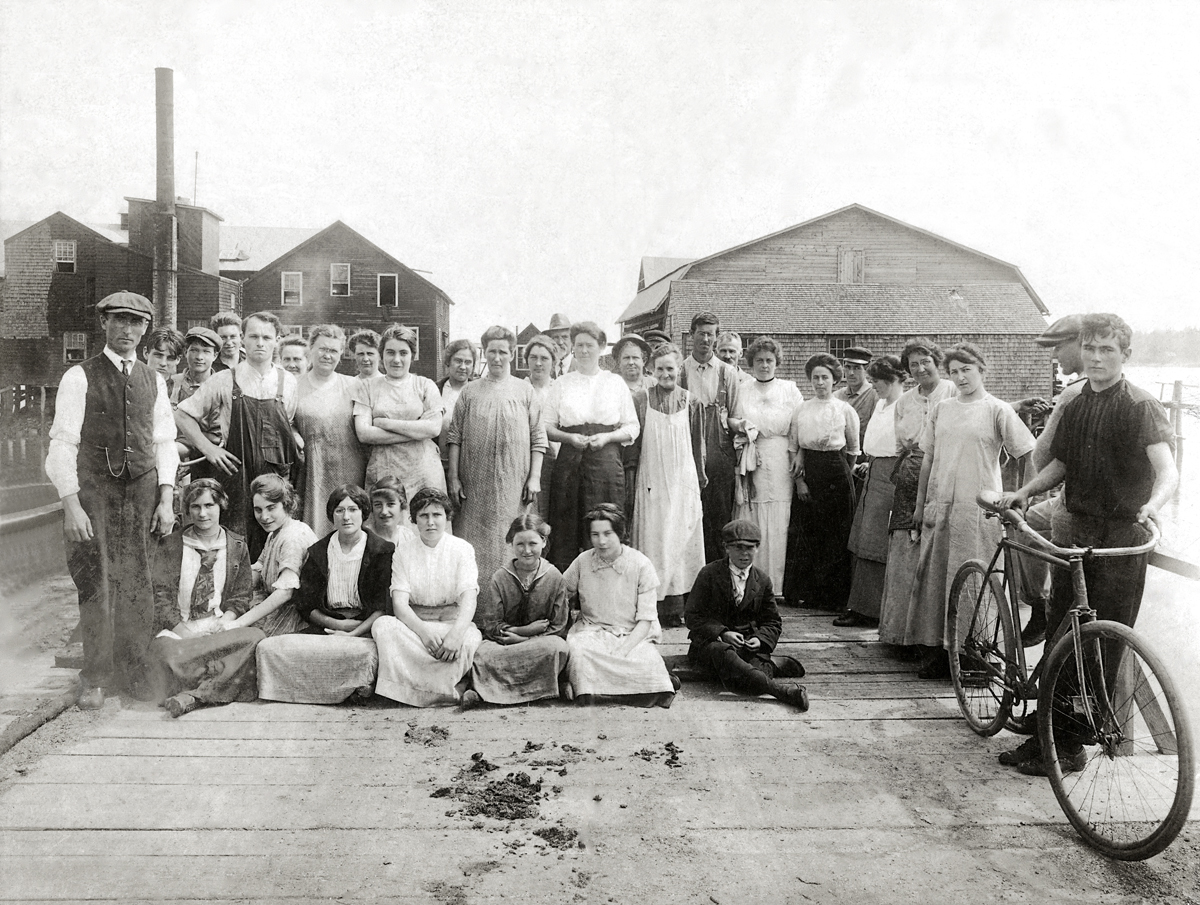 Crew at the Addison Packing Company, Southwest Harbor