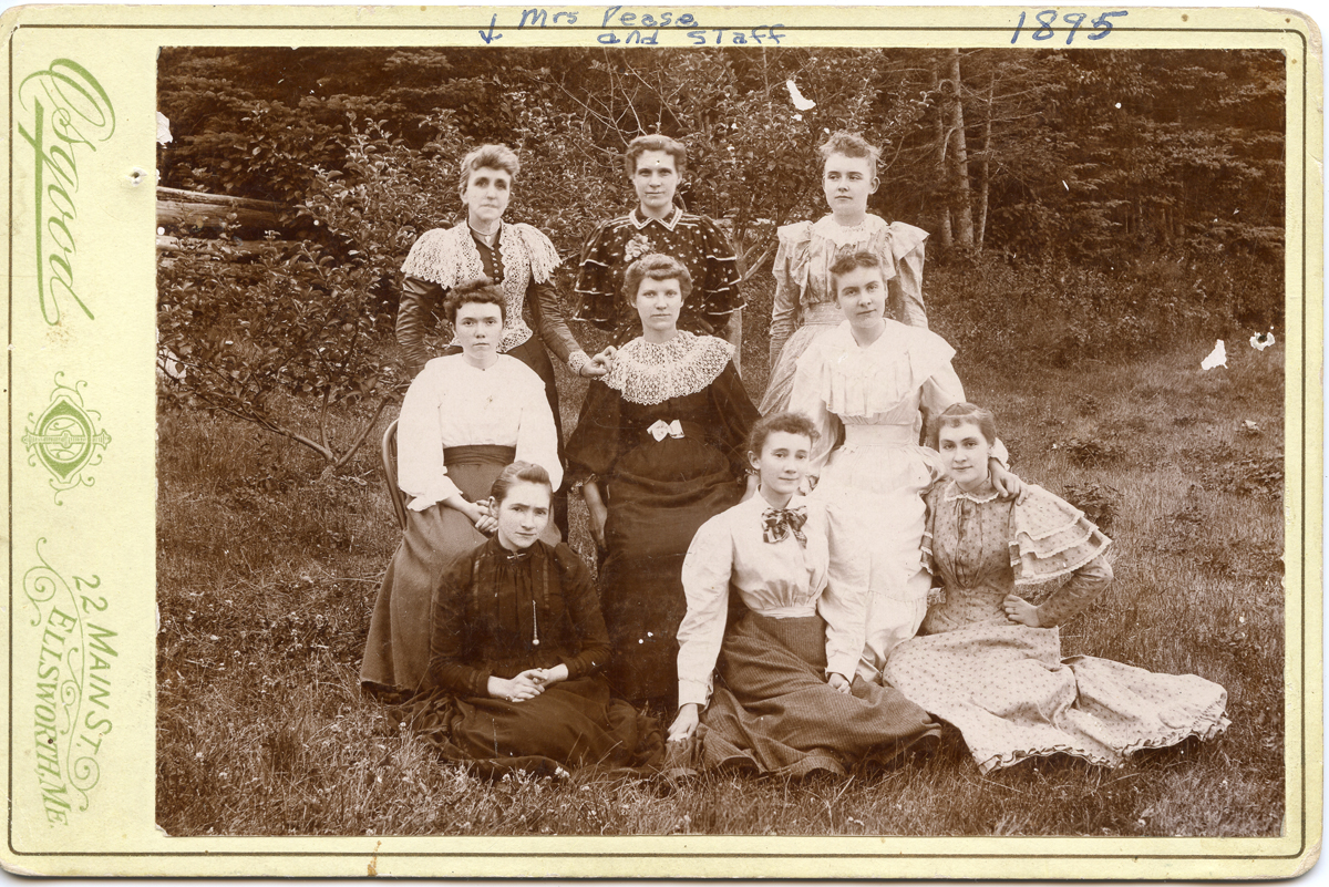 Grace Darling (Clark) Pease, Mrs. Jesse H. Pease, and Staff, The Claremont House