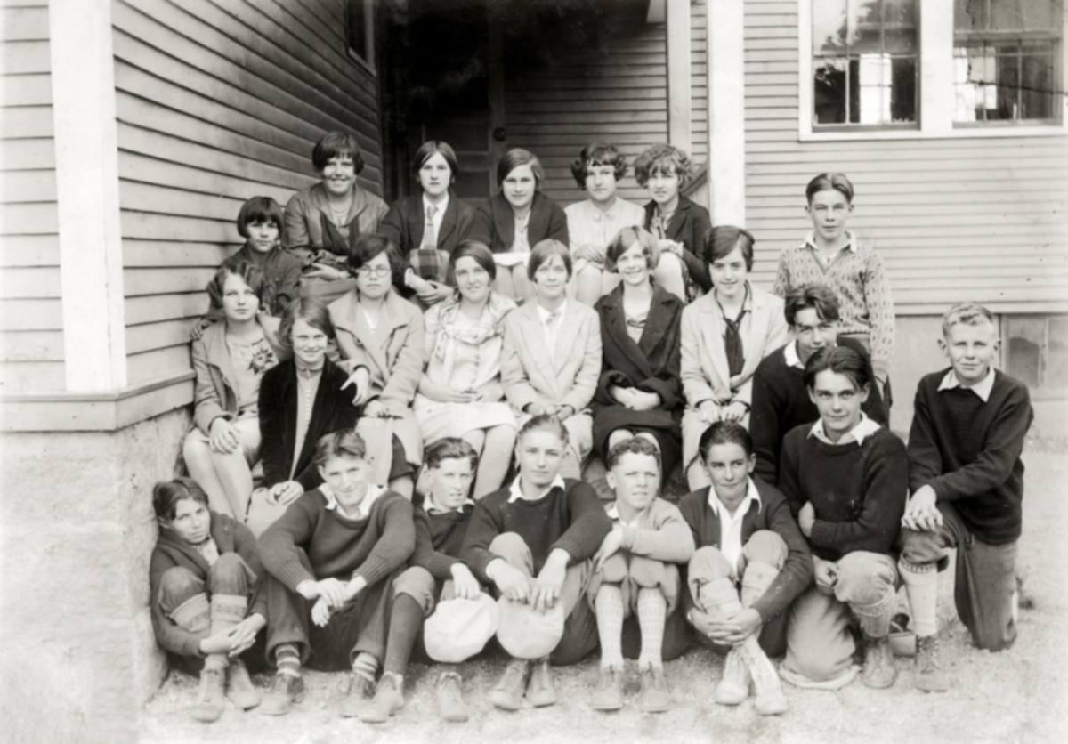 Students of the Southwest Harbor High School - Freshman Class of 1927-1928