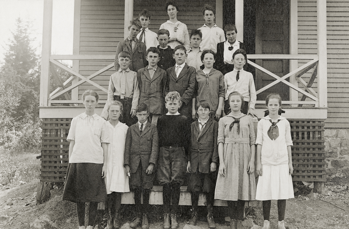 Students at the Manset School