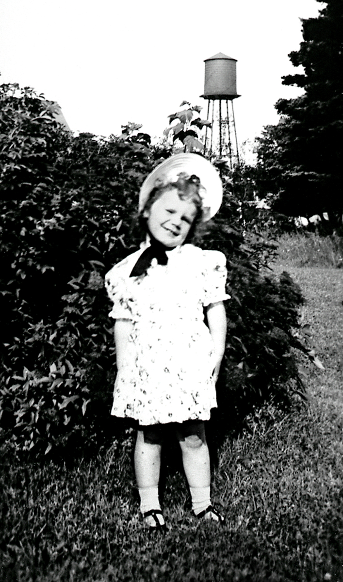 Meredith Adelle Rich - with Underwood Company Water Tower, McKinley, Maine
