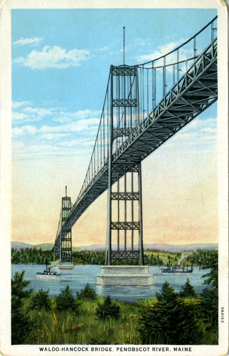 The Waldo-Hancock Suspension Bridge
