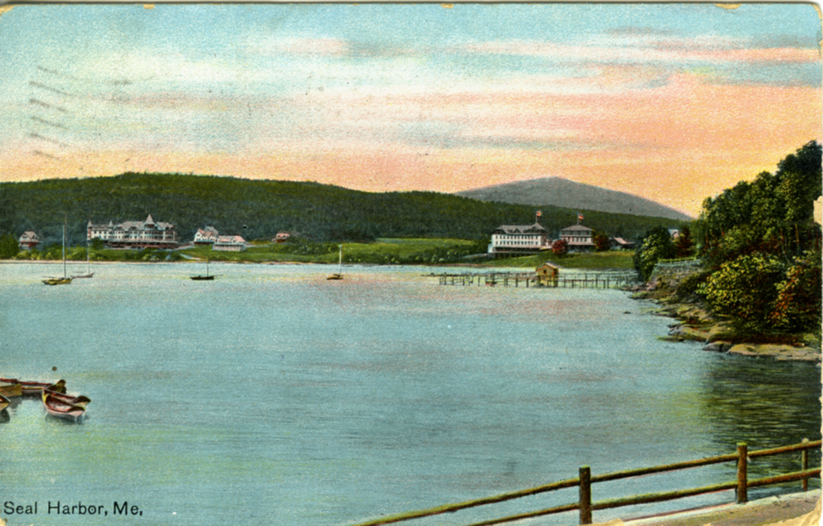 View of Seal Harbor, Maine