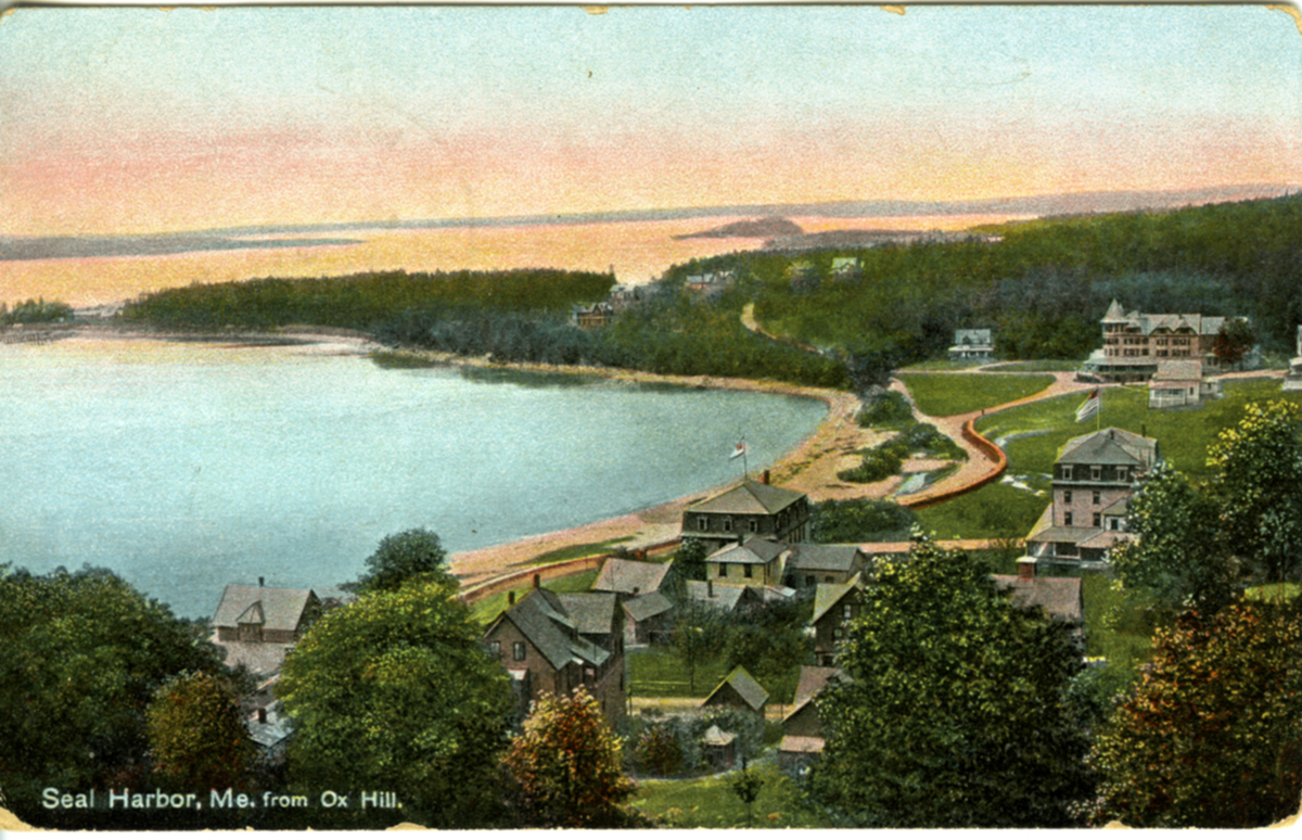 View of Seal Harbor, Maine from Ox Hill
