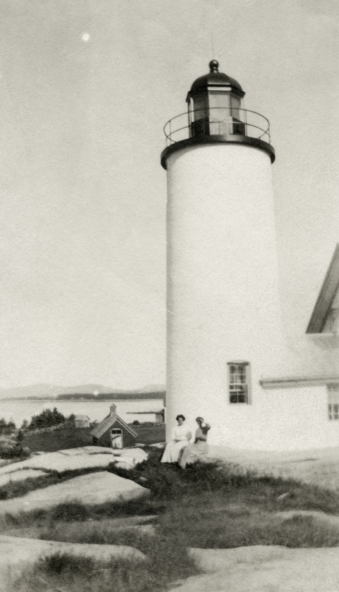 Two Women from the Gilley or Stanley Family at Baker Island Light Station