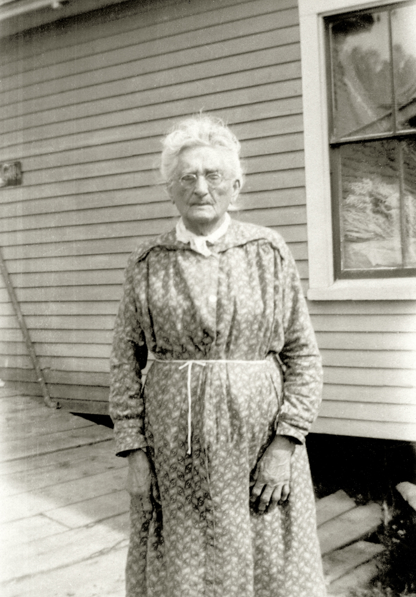 Gilley - Harriet (Gilley) Coulter Taylor (1838-1930) at the Joseph Warren Gilley House on Baker Island