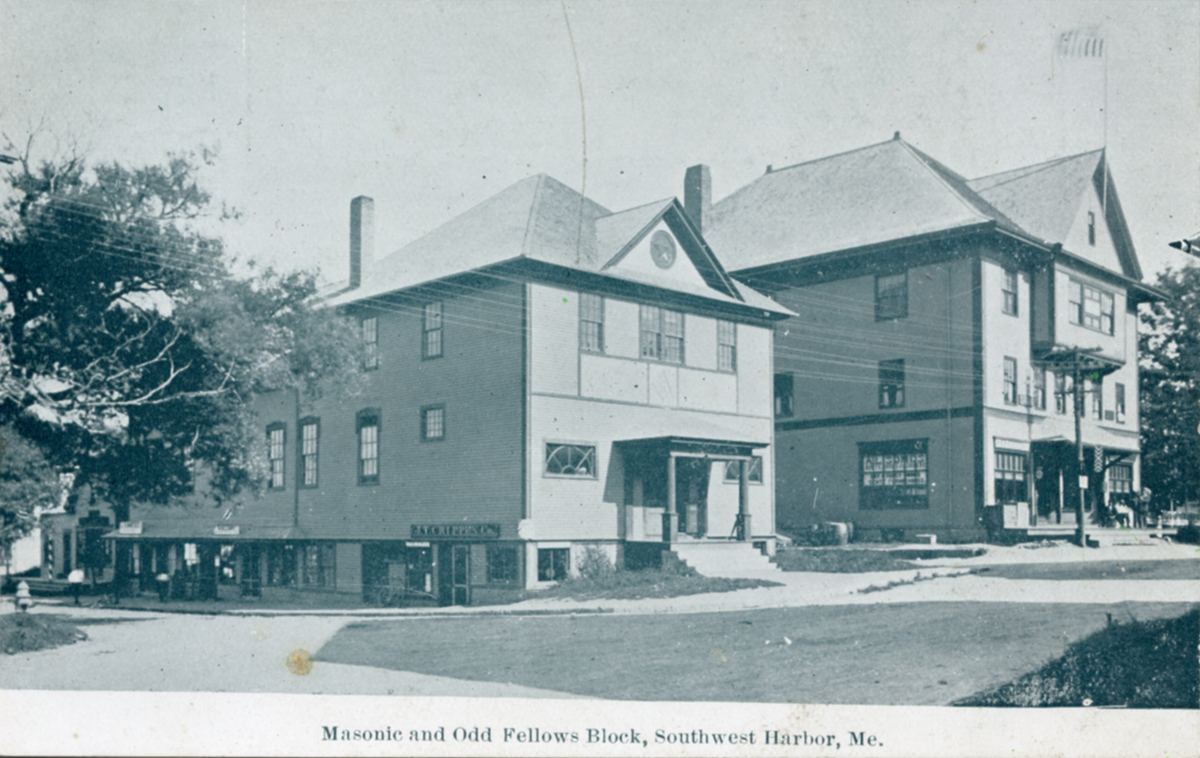 The First Masonic Hall - And First Odd Fellows Building, Southwest Harbor, Maine