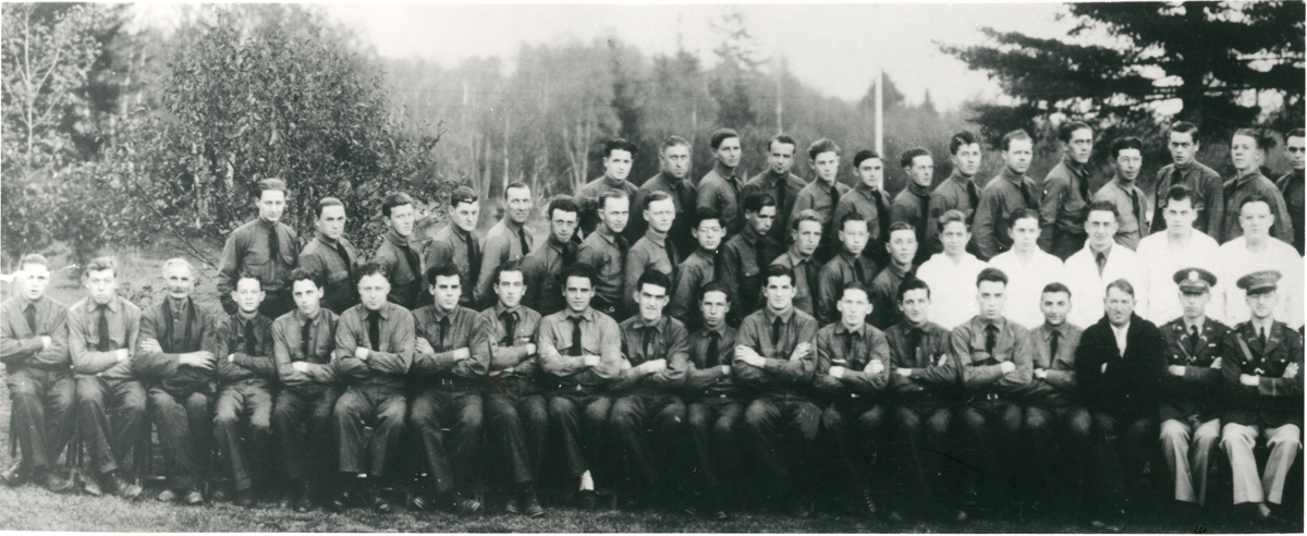 Officers and Men at Great Pond CCC Camp