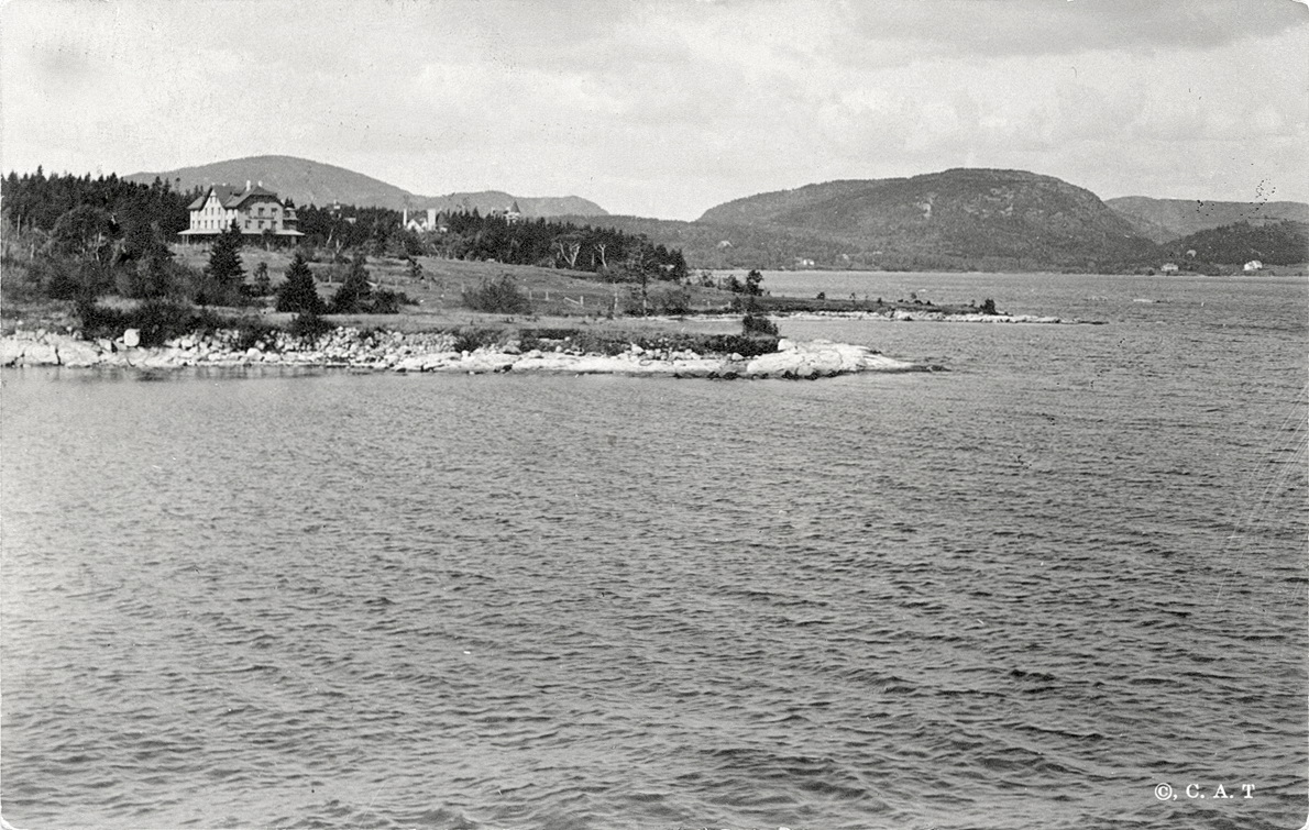 View of Southwest Harbor Back Shore - The Claremont House, The Larches, and Pine Lodge or Balla Cragga