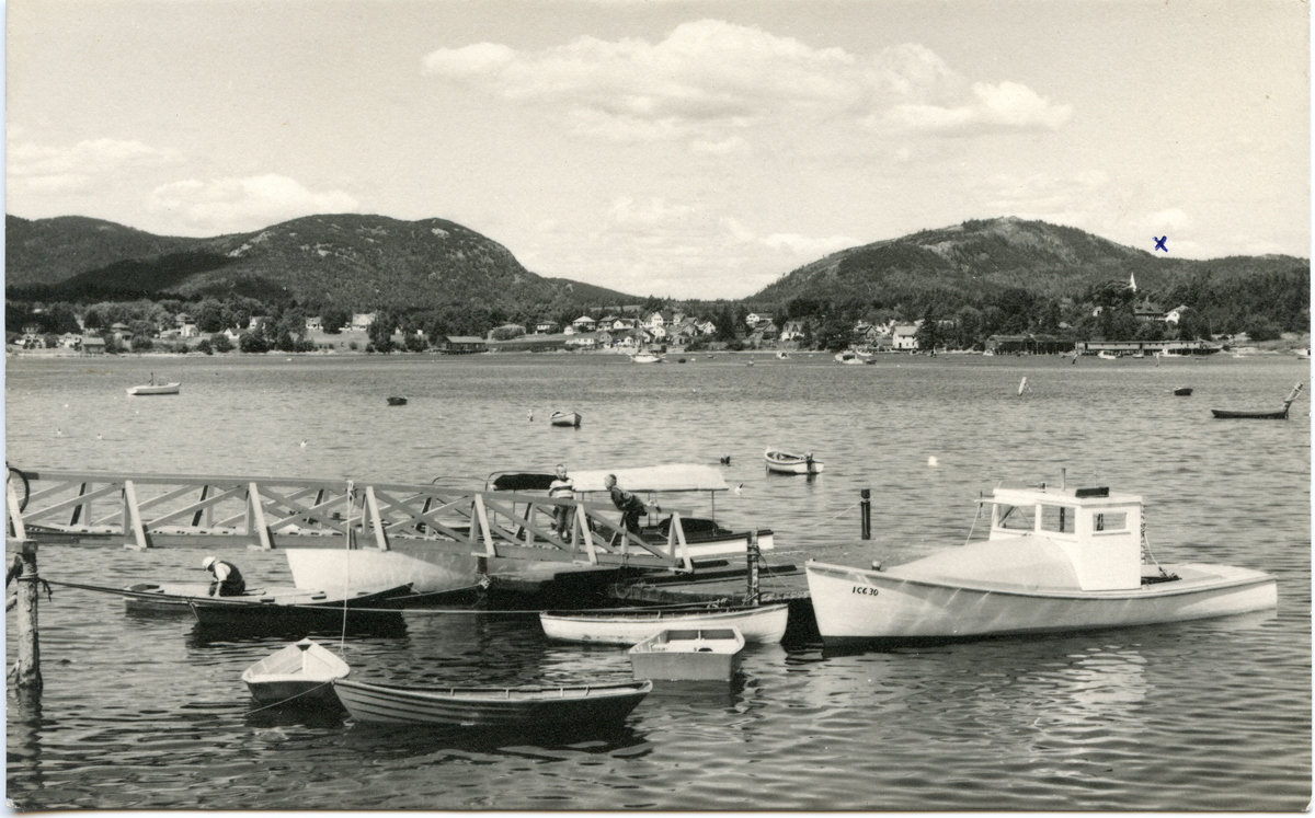 View of Clark Point and Southwest Harbor from Manset