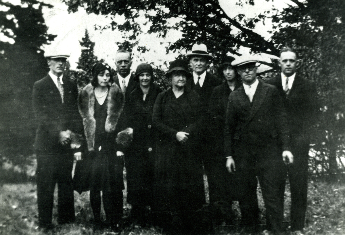 William Sheldon Brown's Family at Funeral