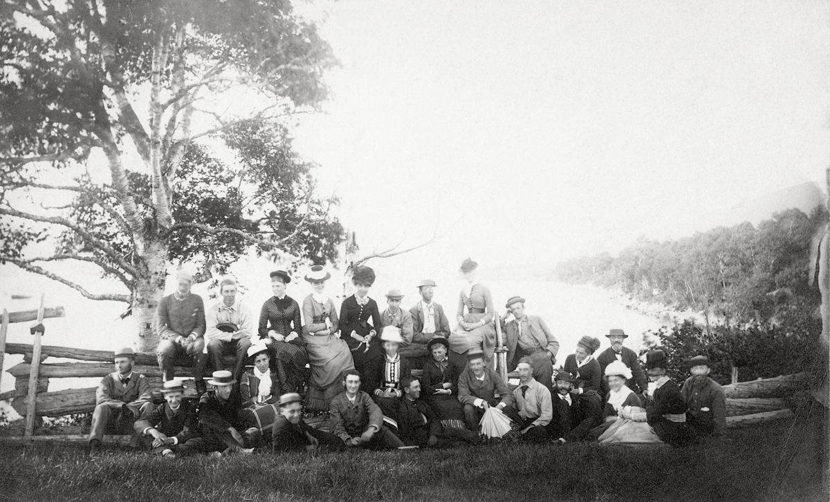 Champlain Society - Visitors at Camp Pemetic on Somes Sound