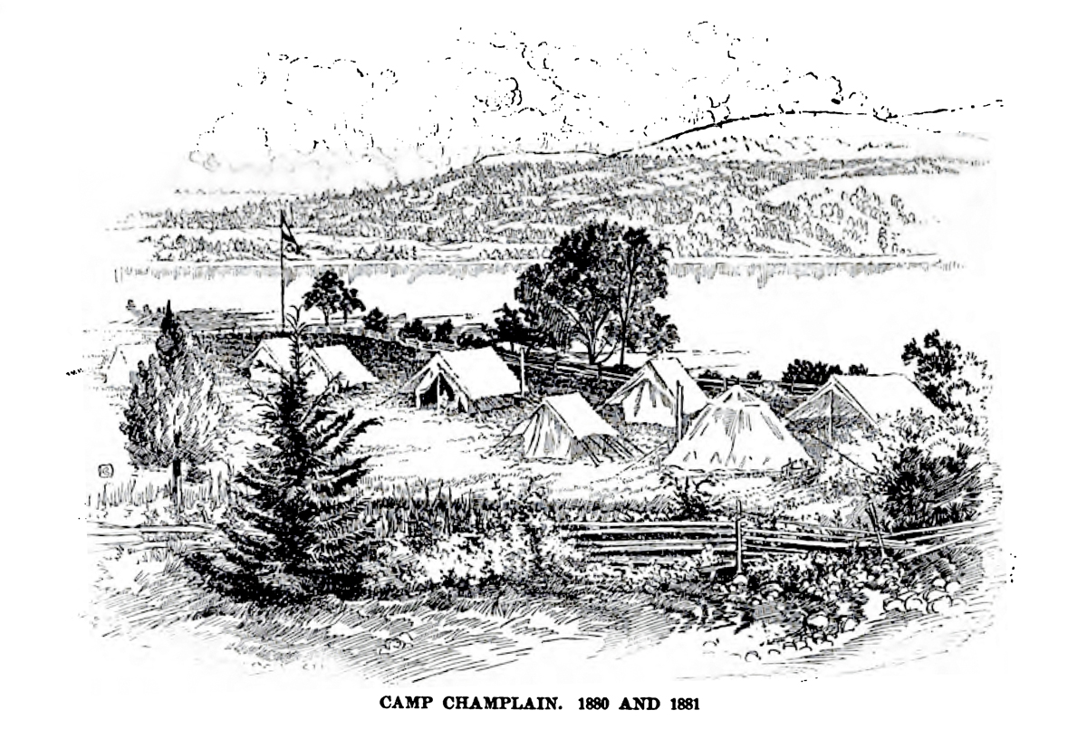 Camp Champlain - 1880 and 1881