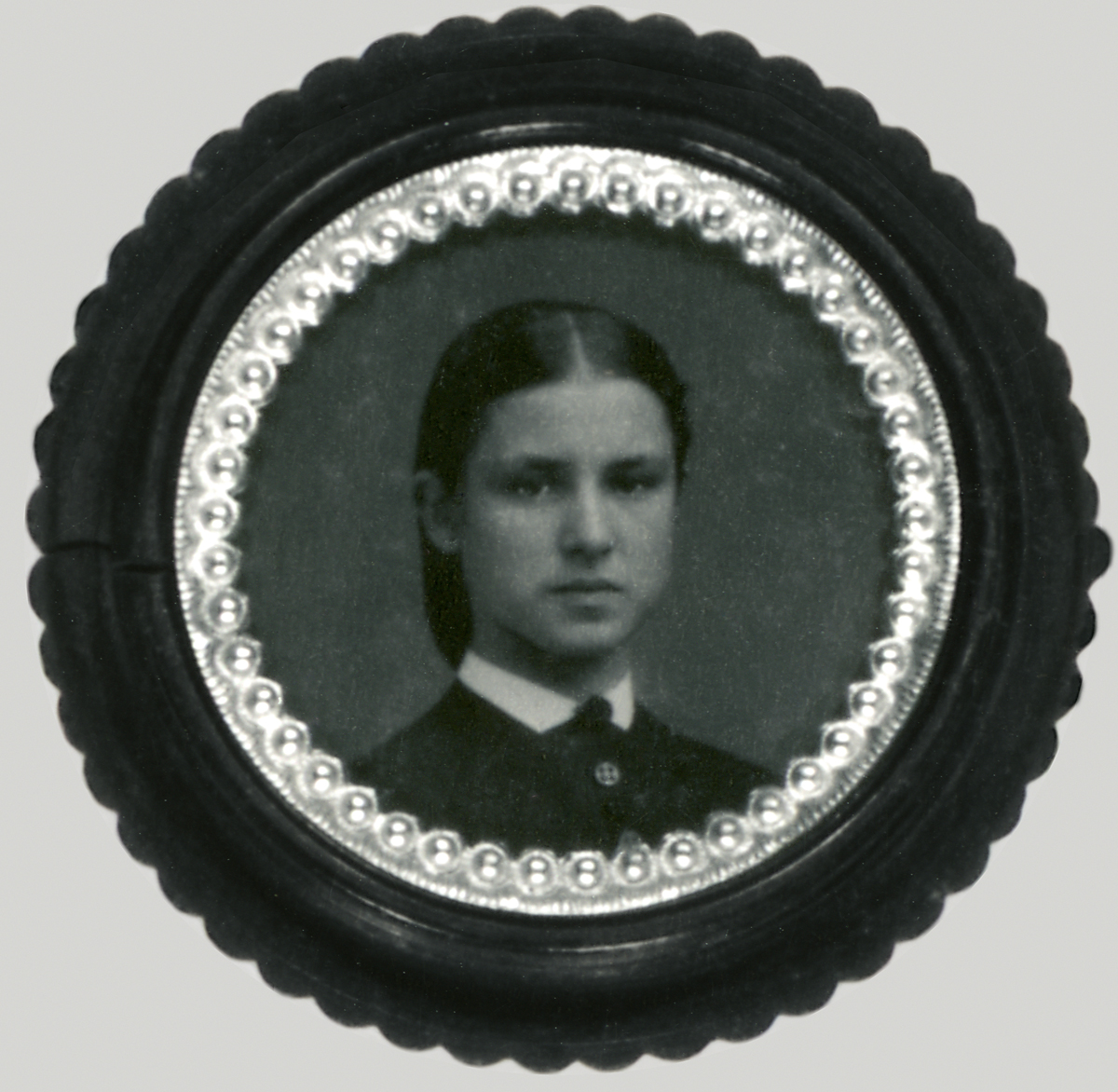 Tintype of Anne E. Smedley Carried by her Husband, Charles F. Hallock During the Civil War