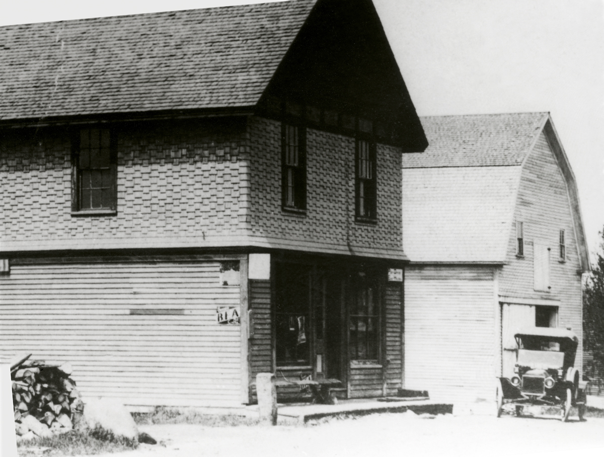 Unknown Building with 1911 Ford Model T