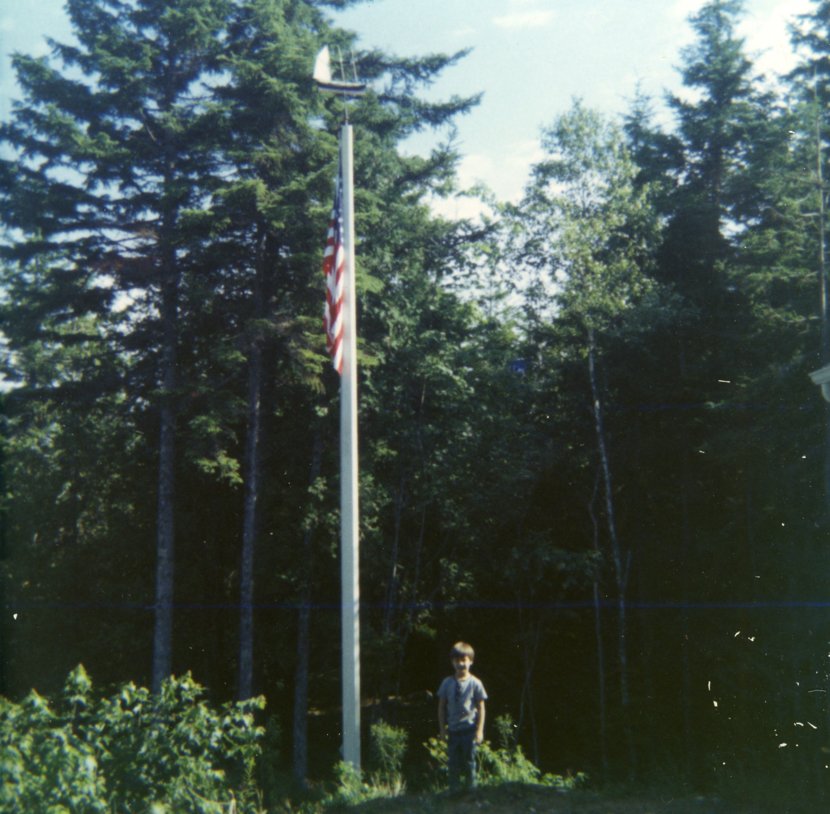 John Caston and the Flagpole Topped with Byron Lewis Robinson's Ship Model